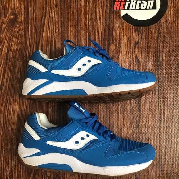Saucony grid 9000 blue white
